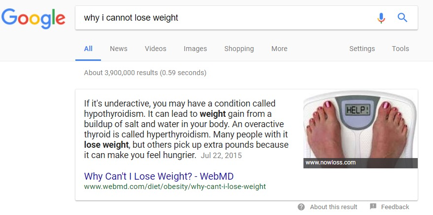 why i canot lose weight
