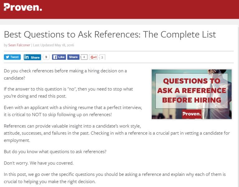 советы для оптимизации страницы с постом, который посвящен запросам рекомендаций у бывших работодателей