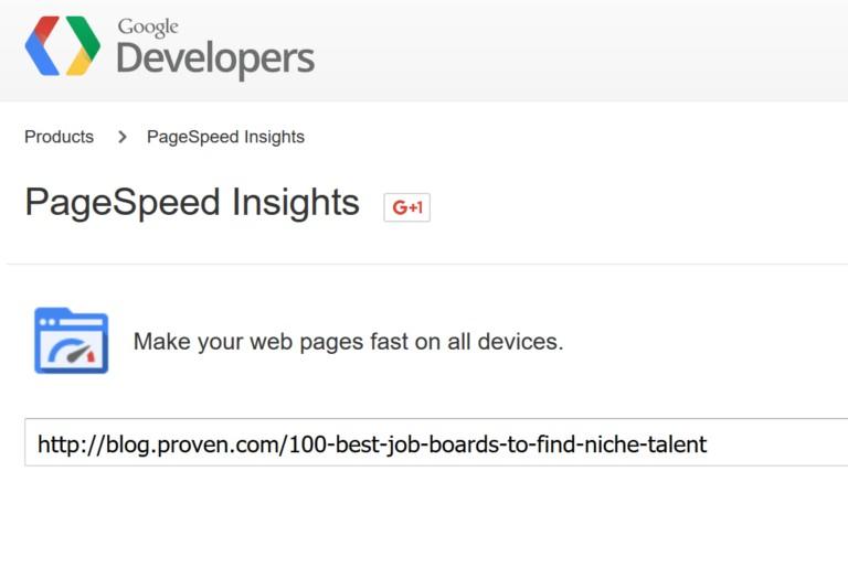 Proven.com проанализировали с помощью сервиса PageSpeed Insights Google
