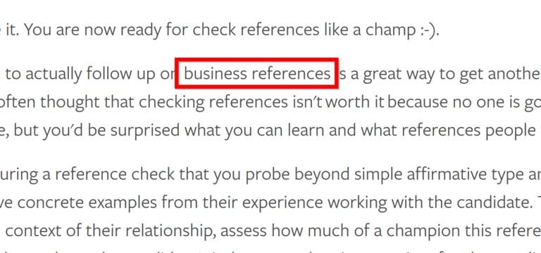 В текст также добавили несколько LSI-ключей, таких как «деловые рекомендации».