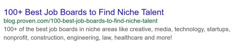 Вот так выглядел сниппет этой страницы в поисковой выдаче: